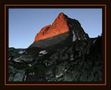 Vestal Peak Sunrise from Campsite