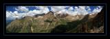 Columbine Pass Panorama - Mount Eolus