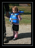 Life jacketed up for a canoe ride