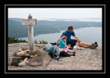 Lunch on Acadia Mountain