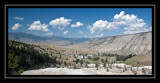 The village of Mammoth Springs