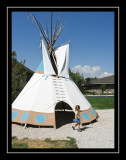 Checking out the tipis