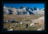 Descending from Desolation Lake