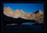 Dusy Basin at Sunset