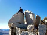 Steve on the Summit of Merriam Peak