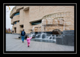 The fountains outside the Museum of the American Indian