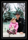 Steve and Norah in front of the cavalry statue