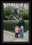 Norah and Steve at the zoo entrance