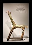 Bottle cap giraffe