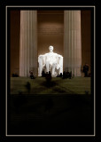 Many nighttime observers at the Lincoln Memorial