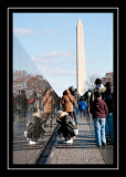 The Vietnam Memorial and the Washington Monument
