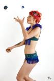 Rita Riggs, circus performer, hula-hoop artist