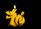 Beeswax Candle  Dragon
