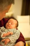 Ula In Grandpa's Arms