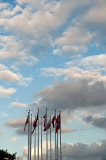 Clouds, Wind And Flags