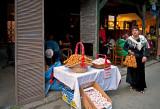 Woman Selling Mini Bagels