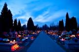 Cemetery At  Blue Nightfall