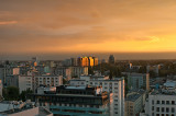 Golden Sky Over Warsaw