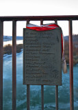 Memorial Plate On The Bridge