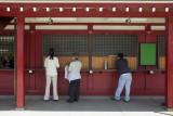 Checking your luck at Asakusa