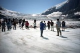 on the glacier in Banff