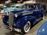 1937 Cadillac V8 sedan in gorgeous deep blue
