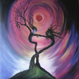 Spiritual-Trees. I did this oil painting from a beautiful image I found on the internet.