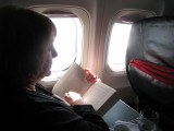 Long flight, but a good book