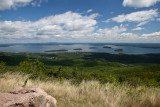 Bar Harbor and Frenchman's Bay from Cadillac Mountain