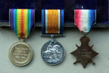 Obverse of Capt Guy Goldthorps medals