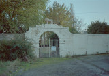 Pyenot Hall gate (Wallace the Lion) 10/1993
