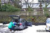 Kanazawa 金沢 - car picnic parked behind Higashi Chayagai ���茶屋街