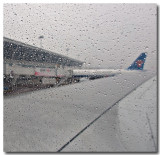 arriving in bad weather...