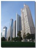 bank buildings...