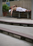 no lying on benches