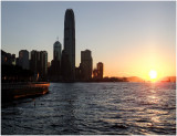 central, harbour and the setting sun...