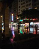 a rainy night...