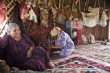 Inside the yurt - Kasakh hospitality