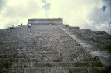 Chichen Itza the steps are very steep