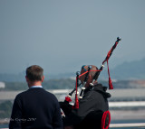 Piping farewell to Plymouth
