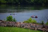 Kayakers & Canoe