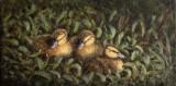 Joyaux sur l'herbe - Huile 6 x 12