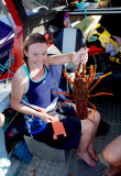 Gracie With A Crayfish