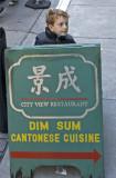 Alex is a sandwich board carrier for Dim Sum