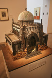 Al Farrow--this is a Synagogue  made out of bullets & guns.  One of his Reliquaries.  There was also a cathedral & a mosque.