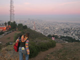 Headed down one of the twin peaks