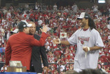 Larry Fitzgerald on stage