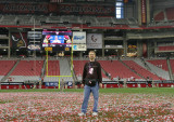 On the cardinal at midfield