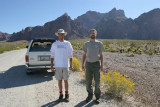 Chris & Tom--Palm Canyon Rd.-Closest they'll ever get after the great Revolving door incident at BJ's Brewery.