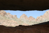 Window of weathering--Chris showed us this interesting place on Kofa Queen Road